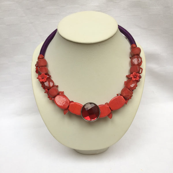 Deep Red Collar necklace