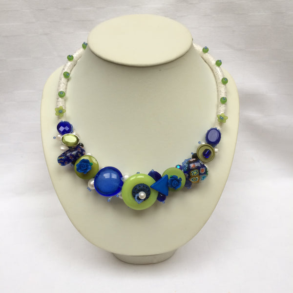 Blue & Green Collar necklace