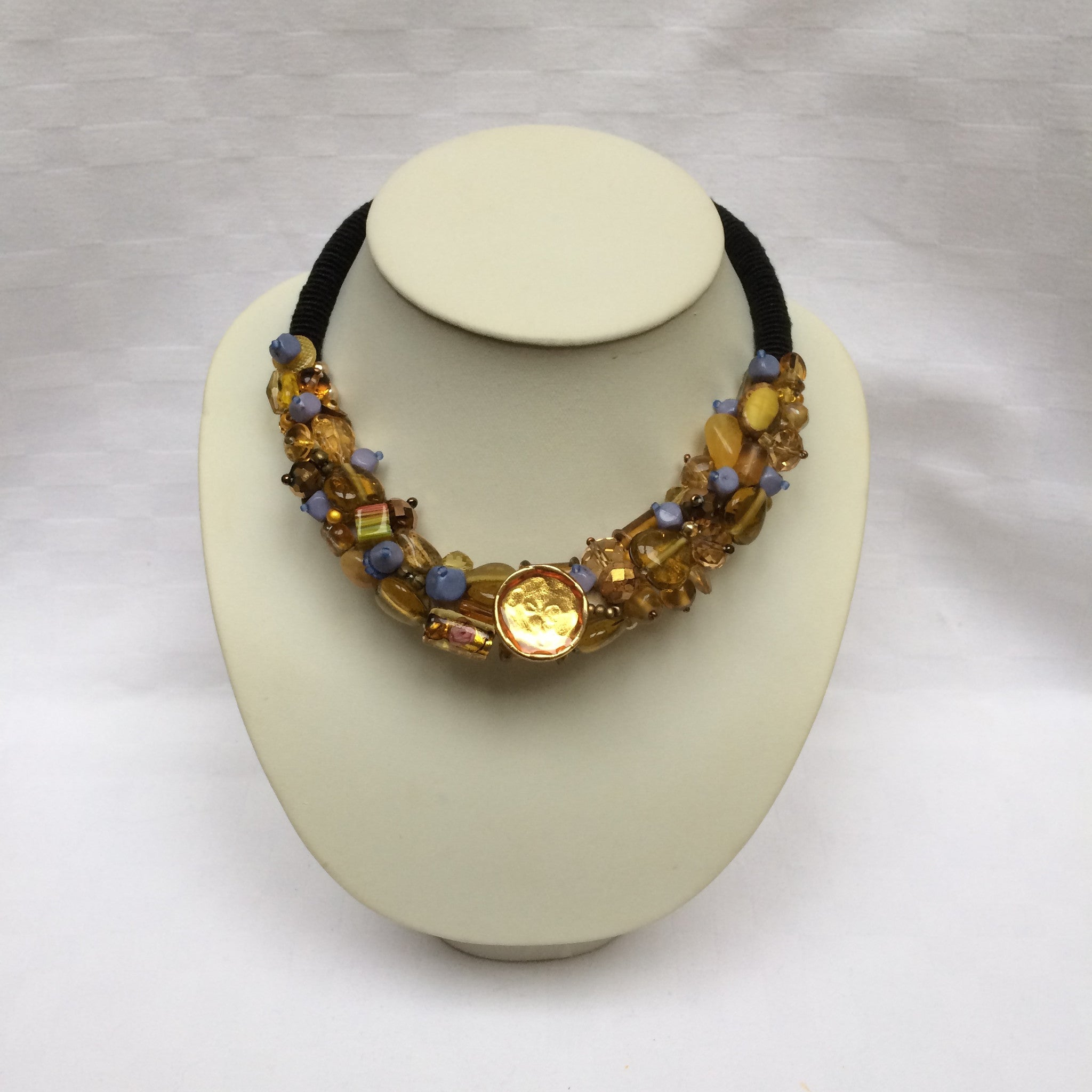 Bronze with Grey Collar necklace
