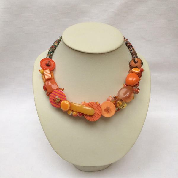 Orange Collar necklace
