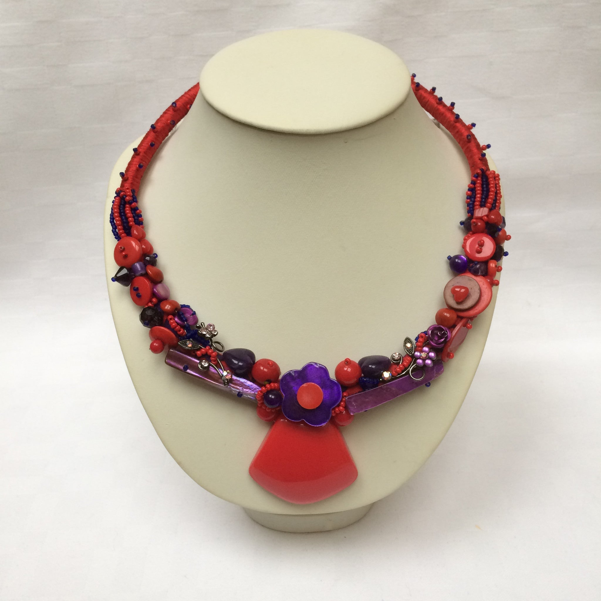 Red & Purple Collar necklace