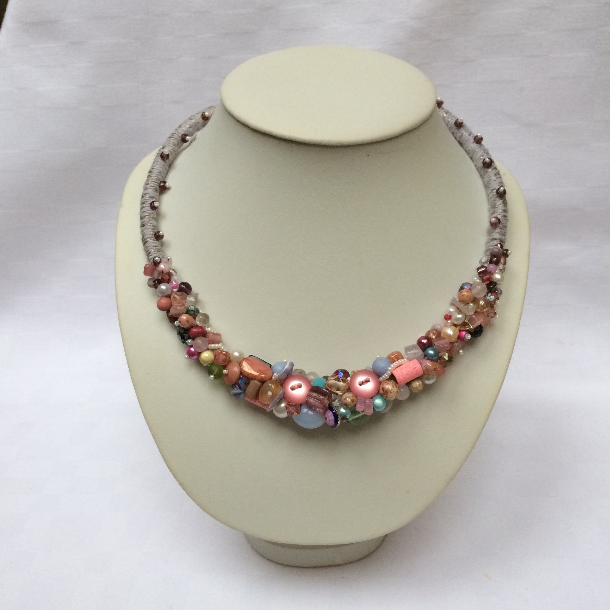 Spring Pastel Multi-colour Collar necklace