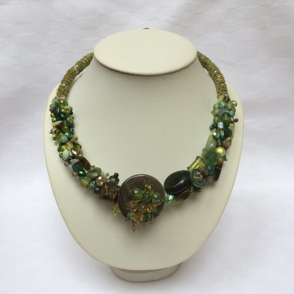 Forest Green Collar necklace