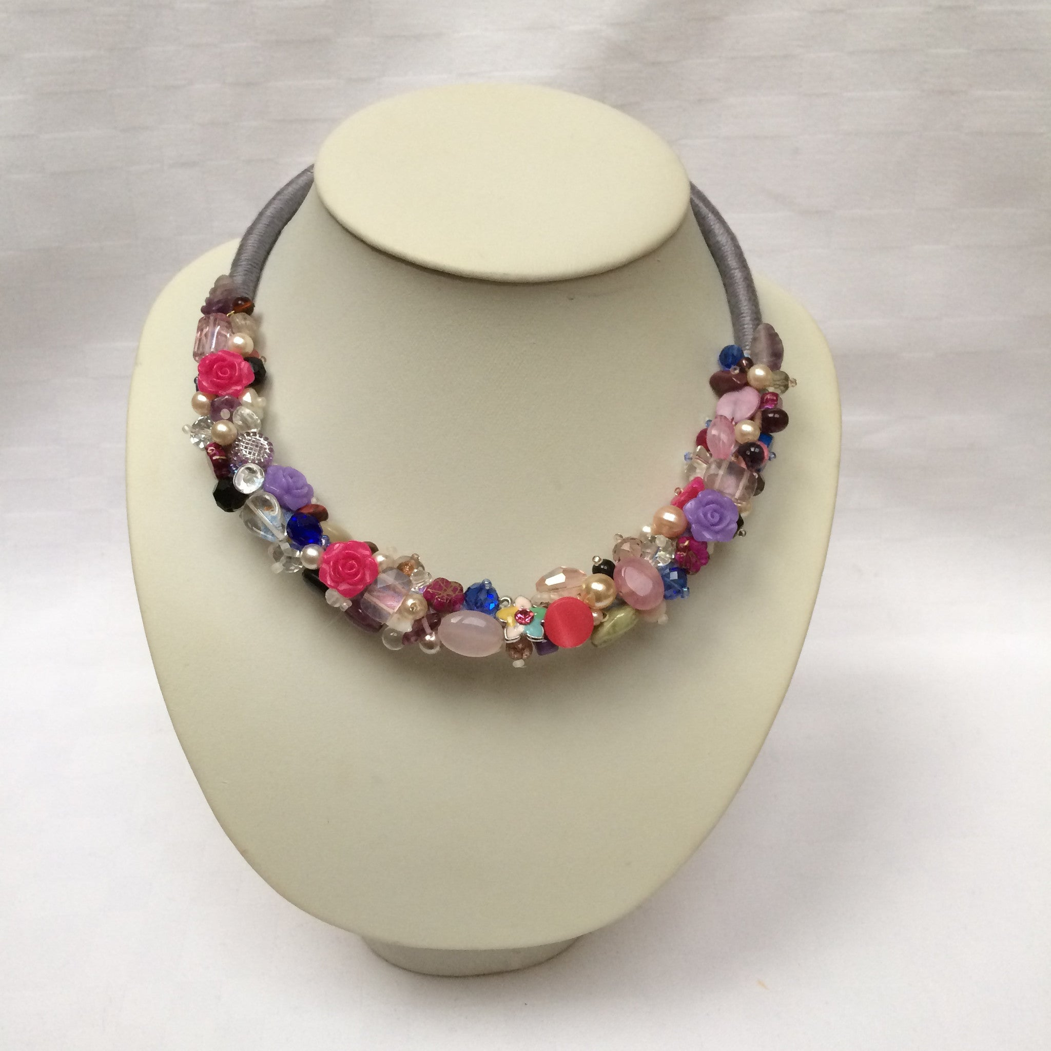Pink & Purple Collar necklace