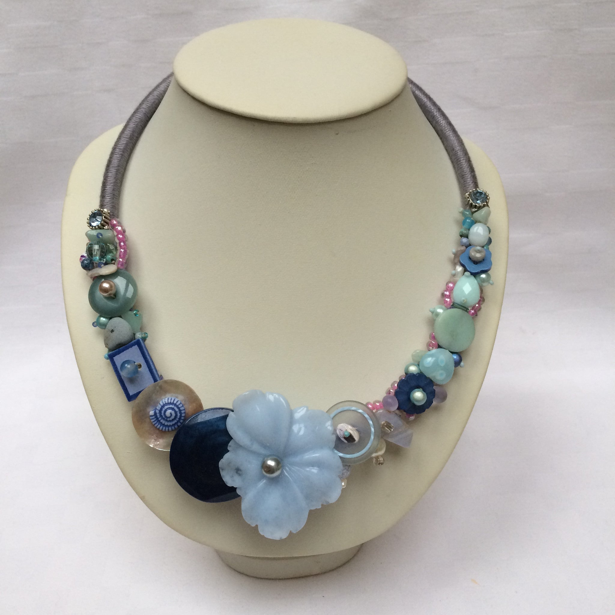 Pastel Blue Collar necklace