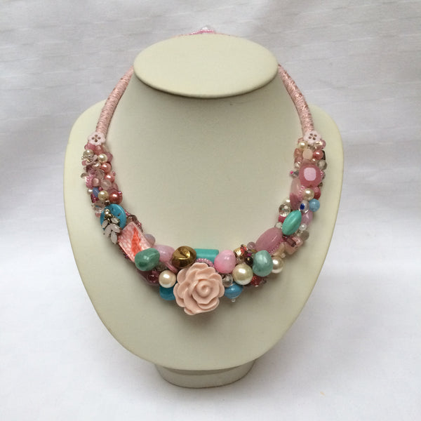 Pastel Pink Collar necklace