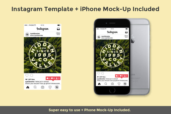 Instagram & iPhone Mock-Up