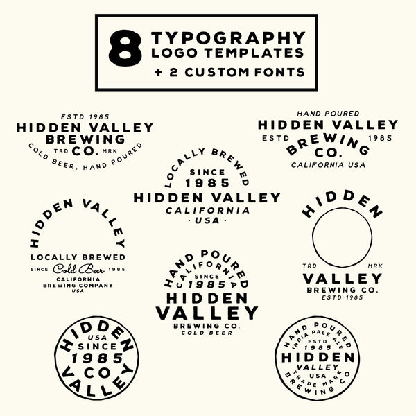 8 Vintage Styled Logo Templates