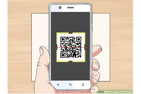 ICE sticker labels mobile phone scanning a qr code