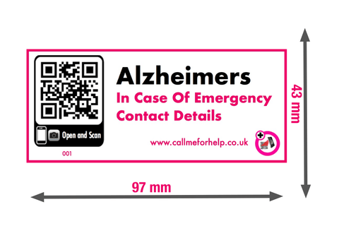 In case of emergency Alzheimer's label