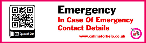 emergency contact label