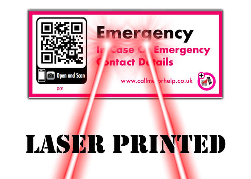 emergency scanning label that is laser printed