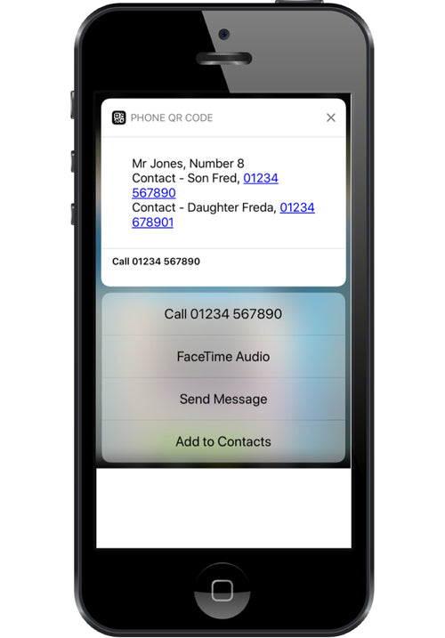 iphone emergency contact details