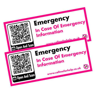 two emergency stickers