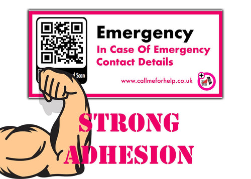 in case of an emergency strong adhesion sticker label