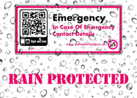 rain and weather resistant sticker