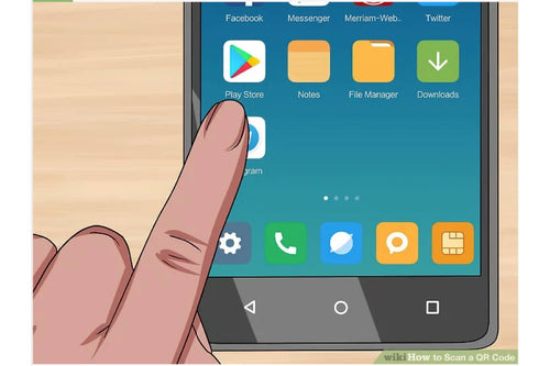 finger selecting a play store app