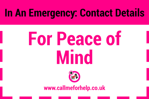 for peace of mind emergency label