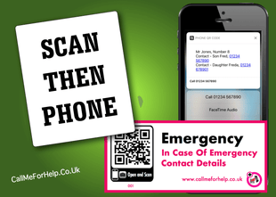 multipurpose label designed to scan with a mobile phone camera