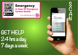 emergency scanning label designed for the emergency services