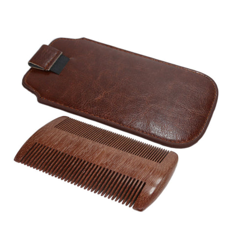 Men's Handmade Sandalwood Pocket Hair and Beard Comb - Natural Curls Club