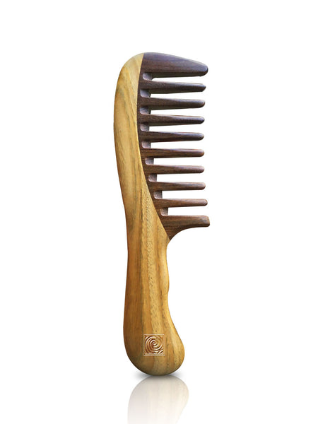 Natural Hair Rescue Wooden Extra Wide Tooth Detangling Comb - Natural Curls Club