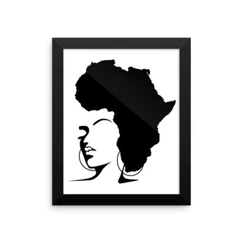 The Rooted Queen Framed poster - Natural Curls Club
