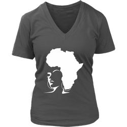 The Rooted Queen V-Neck Shirt - Natural Curls Club