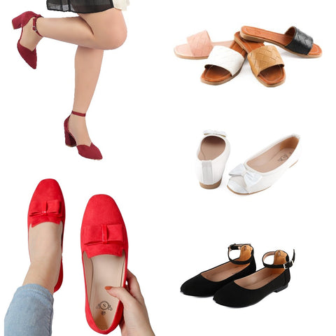 Women Shoes, Sandal, Ballerina, Loafers, Slippers and Heels