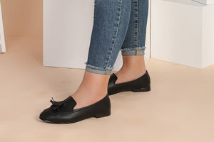 Black Loafers for Women (207-691510) - حذاء أسود حريمي