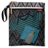 Grab & Go Wet/Dry Bag- Zebra Chevron