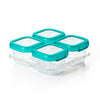 OXO TOT Baby Blocks Freezer Storage Container Set 4oz - Teal