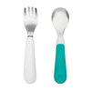 Oxo Tot Fork & Spoon Set - Teal