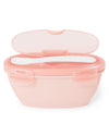 Skip Hop - Easy-Serve Travel Bowl and Spoon - Grey/Soft Coral
