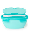 Skip Hop - Easy-Serve Travel Bowl and Spoon - Grey/Soft Teal