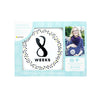 Pearhead Pregnancy Stickers - Black, White & Gold