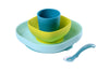Beaba - Blue Silicone Suction Meal Set
