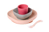 Beaba - Pink Silicone Suction Meal Set