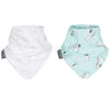 Cheeky Chompers Stars and Zebra Muslin Neckerbibs - Twin Pack