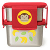 Skip Hop Zoo Marshall Monkey Stainless Steel Lunch Kit