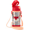 Skip Hop Zoo Ferguson Fox Stainless Steel Straw Bottle