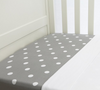 L'il Fraser - Grey With White Polkadot Sheet Set