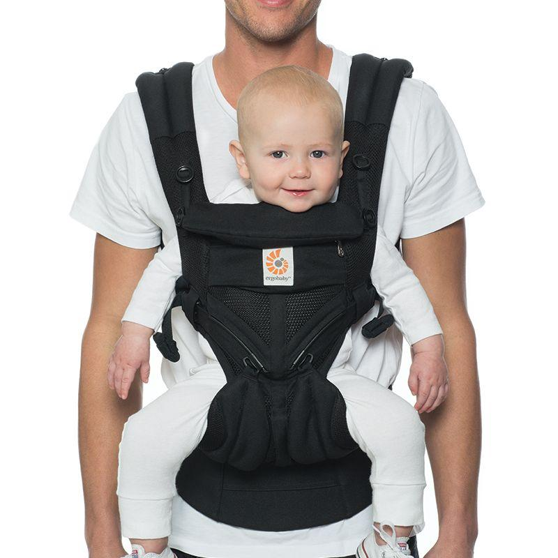 475420aff2b Ergobaby - Omni 360 Baby Carrier  Cool Air Mesh-Onyx Black from The ...