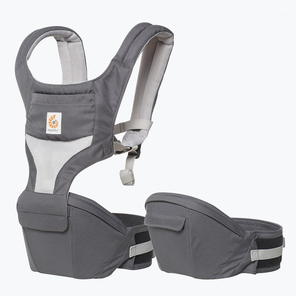 87b82bdf39c Ergobaby Carbon Grey Cool Air Mesh Hip Seat from The Stork Nest ...