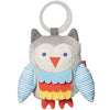 Skip Hop - Treetop Friends Wise Owl Stroller Toy - Grey / Pastel
