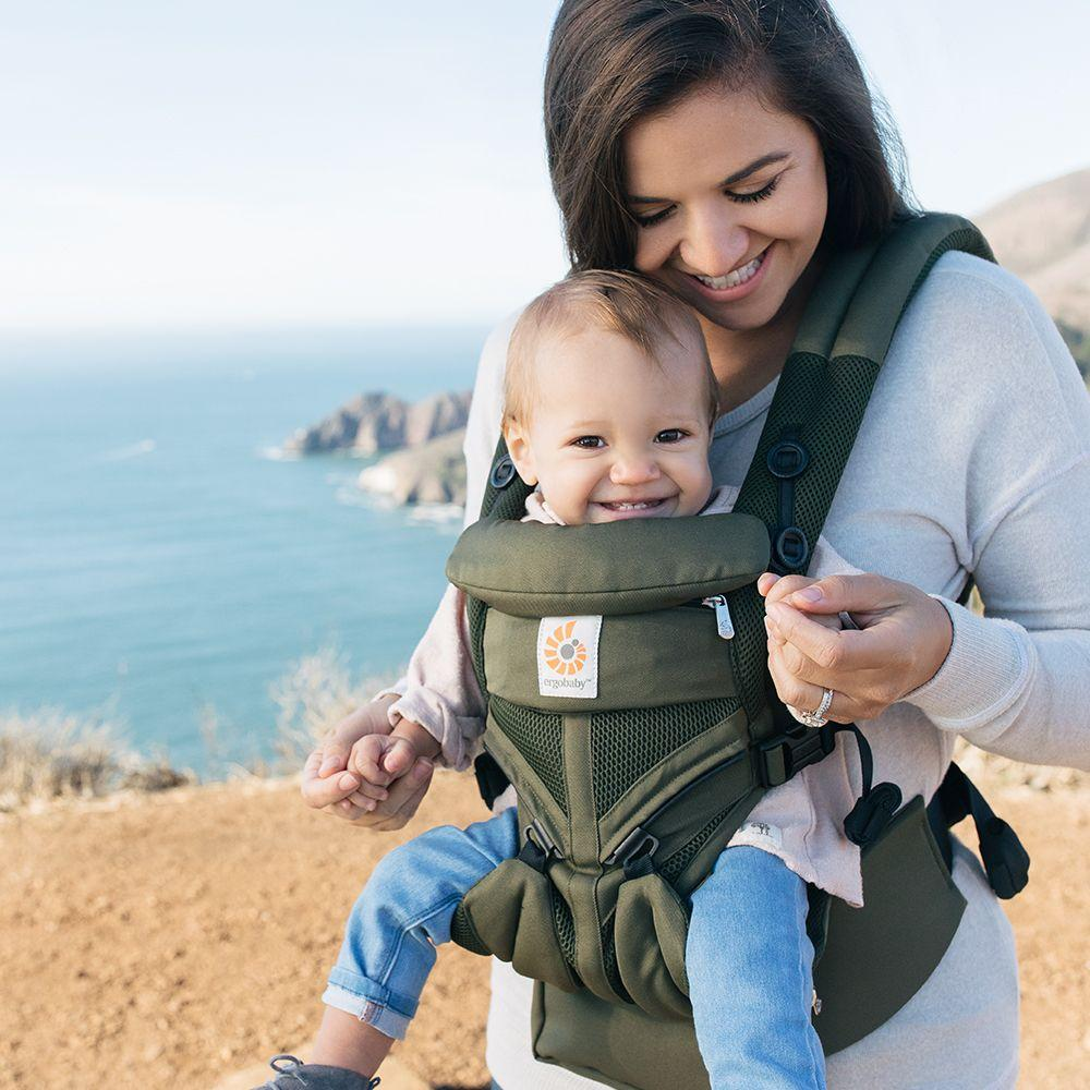 e55dcf05e84 Ergobaby Khaki Green Cool Air Mesh Omni 360 Baby Carrier from The ...