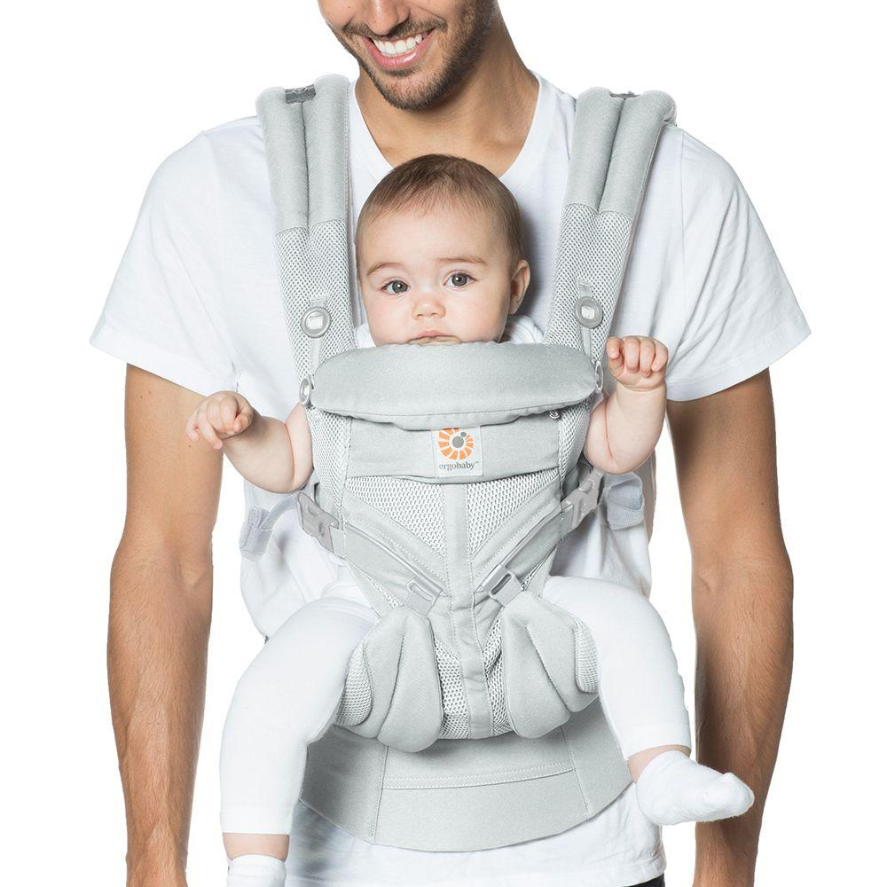 05fad8d7461 Ergobaby - Omni 360 Baby Carrier  Cool Air Mesh-Pearl Grey from The ...