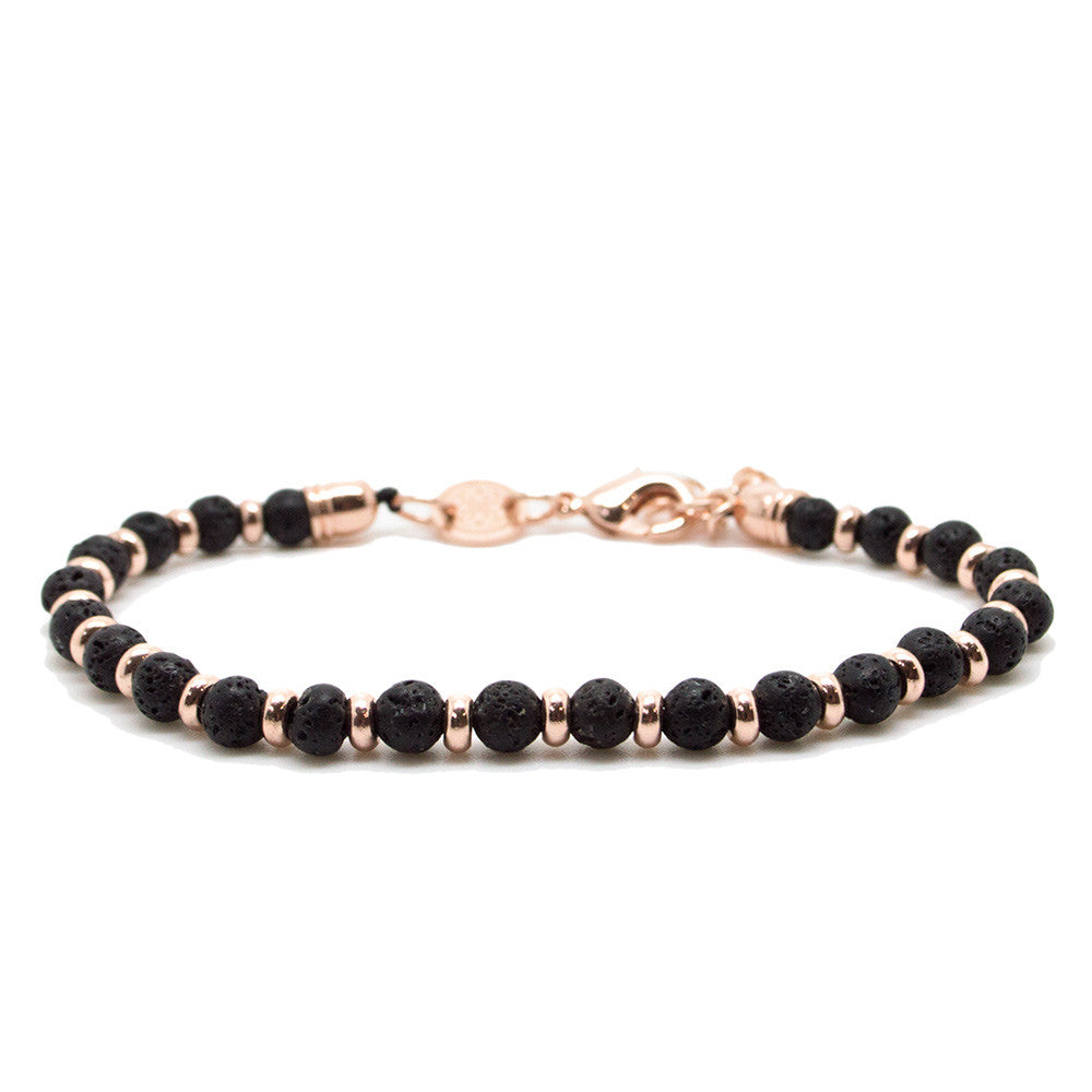 Chevalier lava rose gold beaded