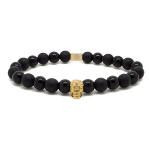 Gold 18kt Skull in Black