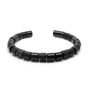 Black Beaded Bangle